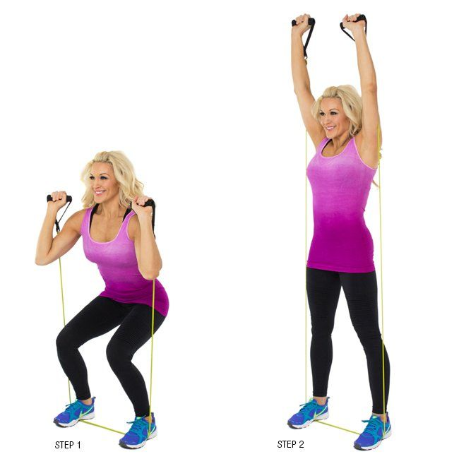 Squat Overhead Press Resistance Band ALL