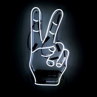 <strong>Oliver Gal</strong> Peace Neon Sign