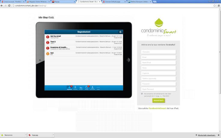 #condominiosmart: la prima form di registrazione