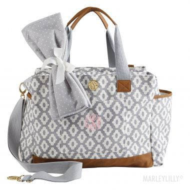 Monogrammed Bigger Bundle Diaper Bag