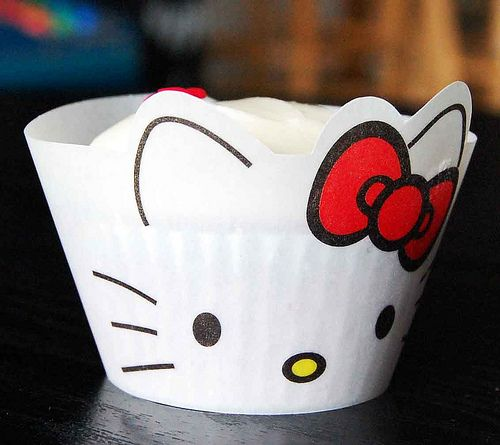Hello Kitty Cupcake Wrapper