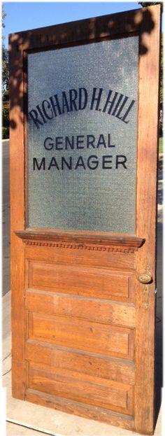 Image result for noir glass door detective office