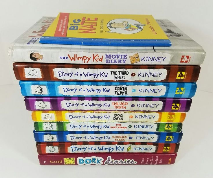 Lot Of Diary Of A Wimpy Kid #'s 1-7 + Movie Diary +1 Dork Diaries +1 Big Nate