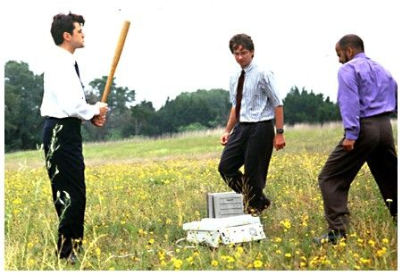 This is my absolute favorite scene from this movie.....cracks me up every time I see it :) office space.