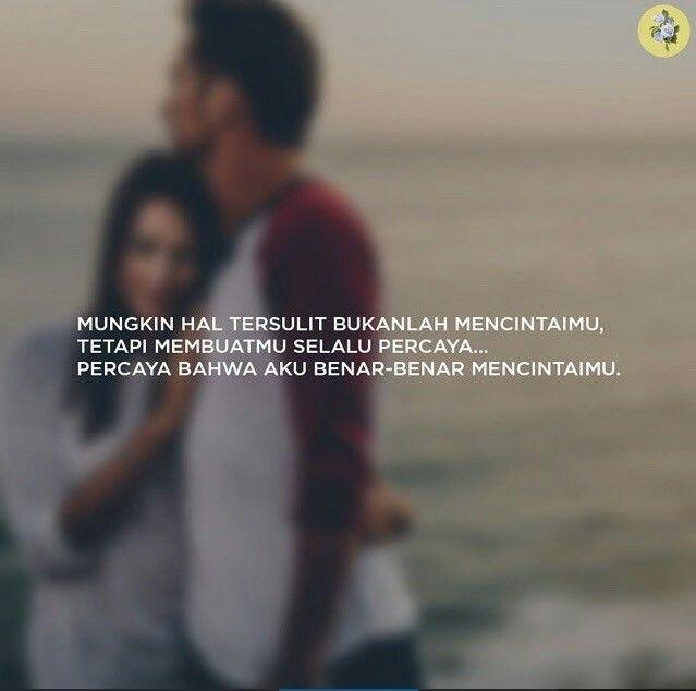 Aku mencitaimu. Karena itu aku takkan pernah bosan untuk selalu berusaha lakukan yg terbaik untukmu, agar kau percaya bahwa aku benar-benar mencintaimu.