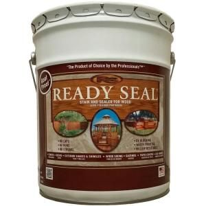 READY SEAL, 5 gal. Dark Walnut Exterior Wood Stain and Sealer, 525 at The Home Depot - Mobile
