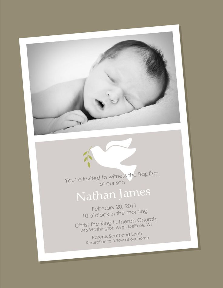 Dove      Dove Custom Photo Baptism Invitation by winksanddaisies on Etsy