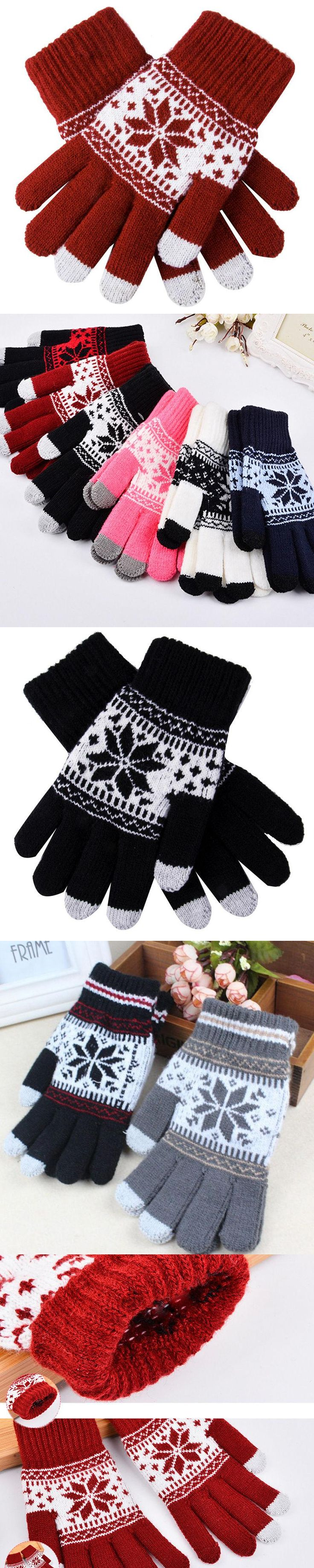 New Fashion Warm Winter Gloves Knitted Touch Gloves Men Women Gloves Touch Screen Glove
