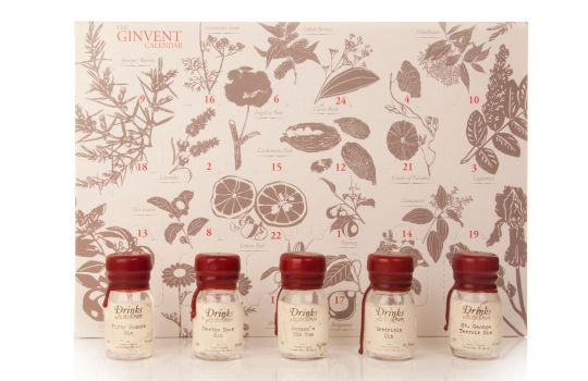 Ginvent gin advent calendar with 30cl drams bottles of gin