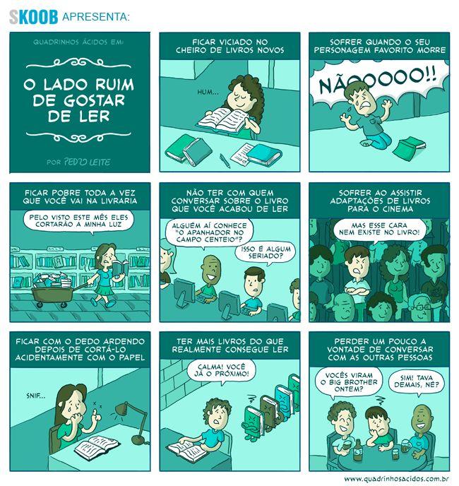 O lado ruim de gostar de ler