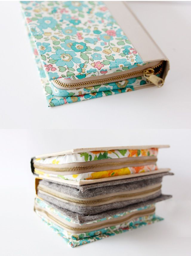 zipper book tutorial via see kate sew