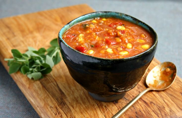 warming roasted red pepper lentil soup recipe