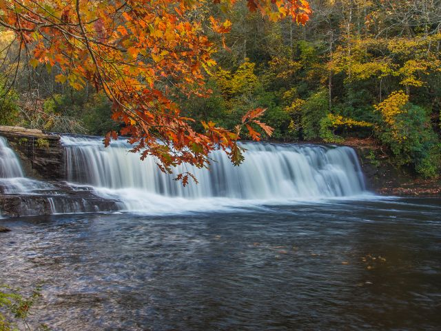 Landscape Waterfalls Wallpaper | Autumn Landscape with waterfall wallpapers and…