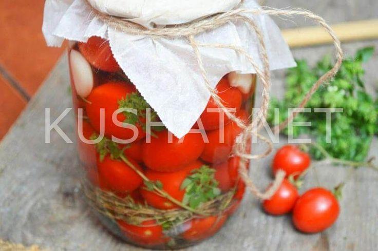 Маринованные помидоры черри на зиму без стерилизации