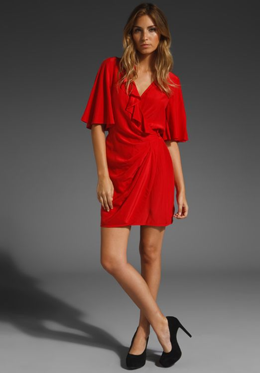 Flutter Sleeve Wrap Dress Great To Hide Arms