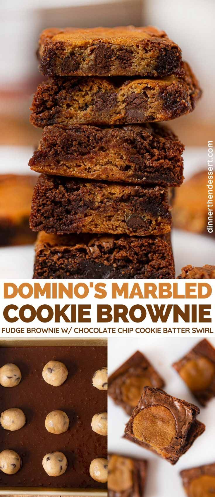 Domino S Marbled Cookie Brownie Copycat Brownie Recipes Brownie Cookies Cookie Brownie Recipe