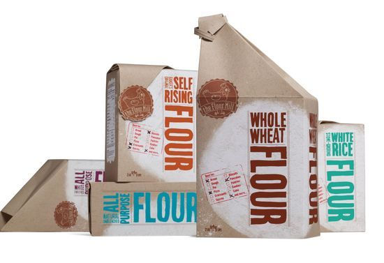 flour packaging.