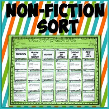 Nonfiction+sort+board,+cards+and+recording+sheet.++This+sort+activity+is+intended+for+use+at+a+literacy+center.+  How+does+this+work?  The+student+places+the+six+category+cards+on+the+marked+spots.++Next,+they+place+the+appropriate+definition+cards+under+the+category+cards.