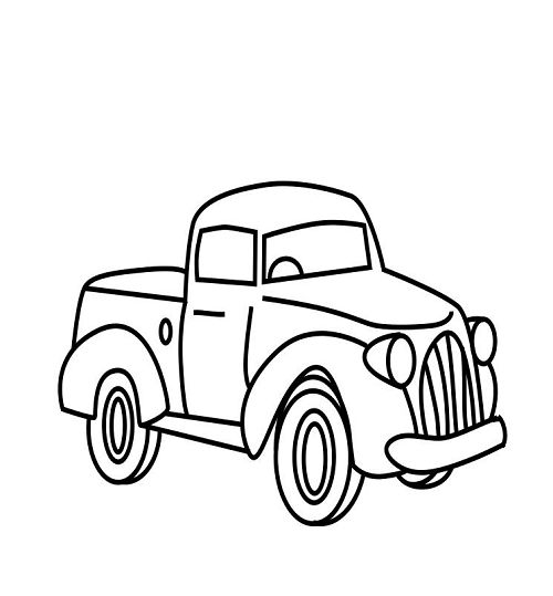 little blue truck coloring pages