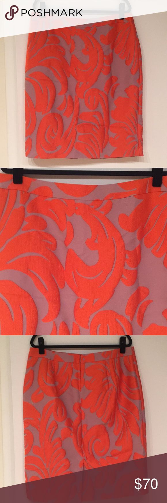[NWOT] ANN TAYLOT pencil skirt Beautiful orange & purple pencil skirt from Ann Taylor. Size 16, has never been worn. Ann Taylor Skirts Pencil