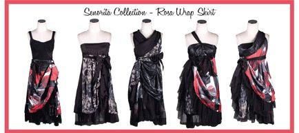 Stitch N Bitch wrap skirt Rose by Annah Stretton