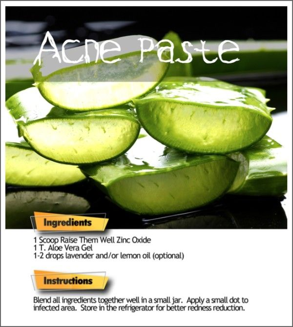 Natural DIY Acne Cream, homemade recipe so easy   What to look for in a zinc powder:  Non-nano (won't be absorbed into the body) Lab tested lead-free 100% pure Toxin-free Non-micronized Uncoated