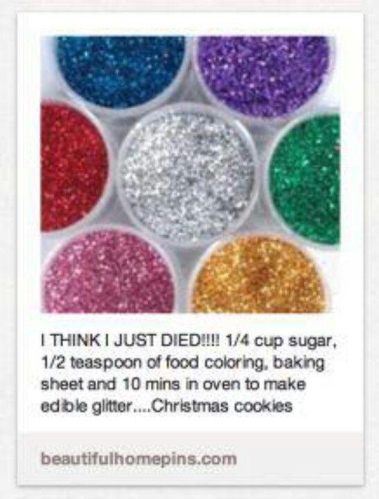 DIY edible glitter
