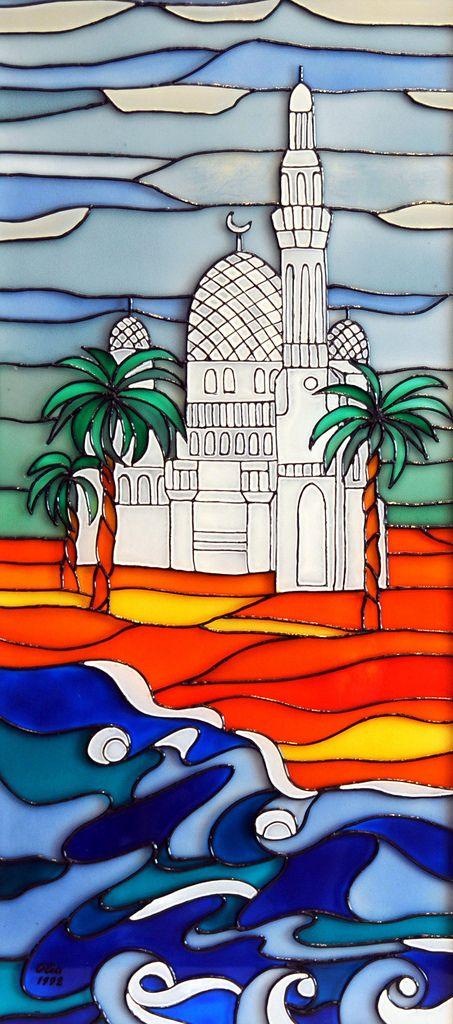 Mosques (2 Piece Set) | by ColoredGlassByOlia