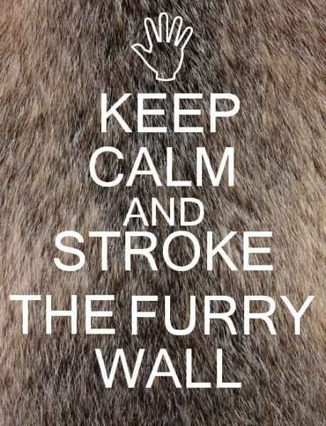 ...stroke the furry wall lol