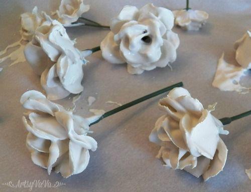 Einfach Porzellan Blumenherstellung mit Gips
