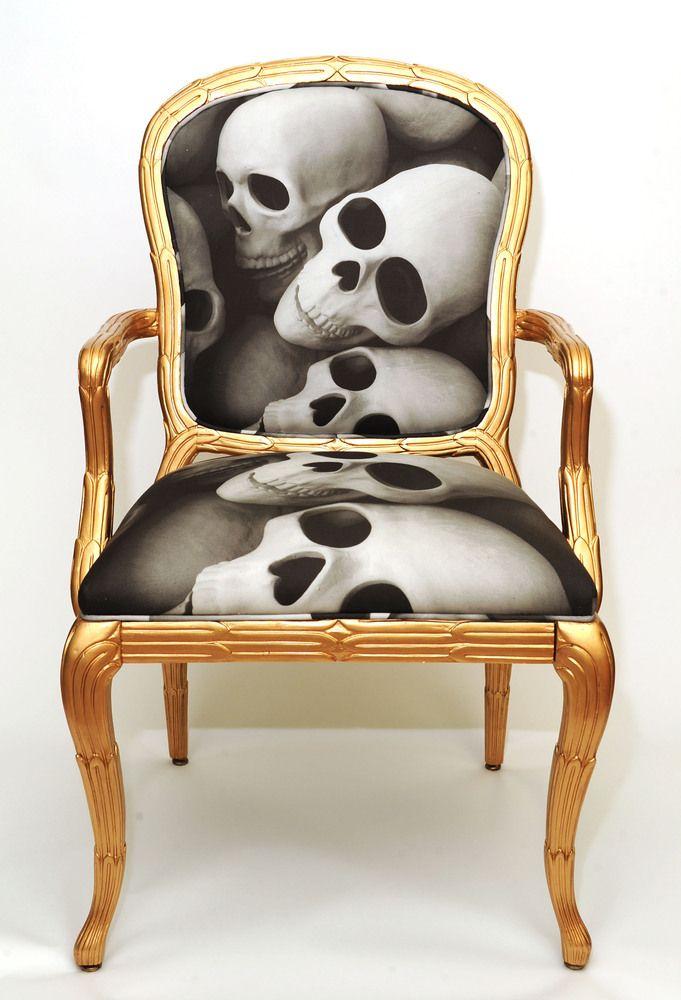 Skulls: #Skull chair.