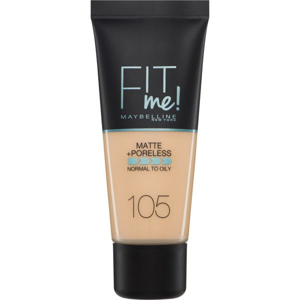 Maybelline Fit Me! Matte and Poreless Foundation 30ml (Various Shades) (23 BRL) ❤ liked on Polyvore featuring beauty products, makeup, face makeup, foundation, liquid foundation, maybelline face makeup, maybelline and maybelline foundation