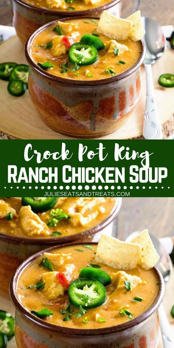 Crock Pot King Ranch Chicken Soup ~ Your Favorite King Ranch Chicken Casserole F…
