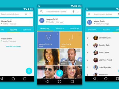 Freebie: Android L Contats UI PSD
