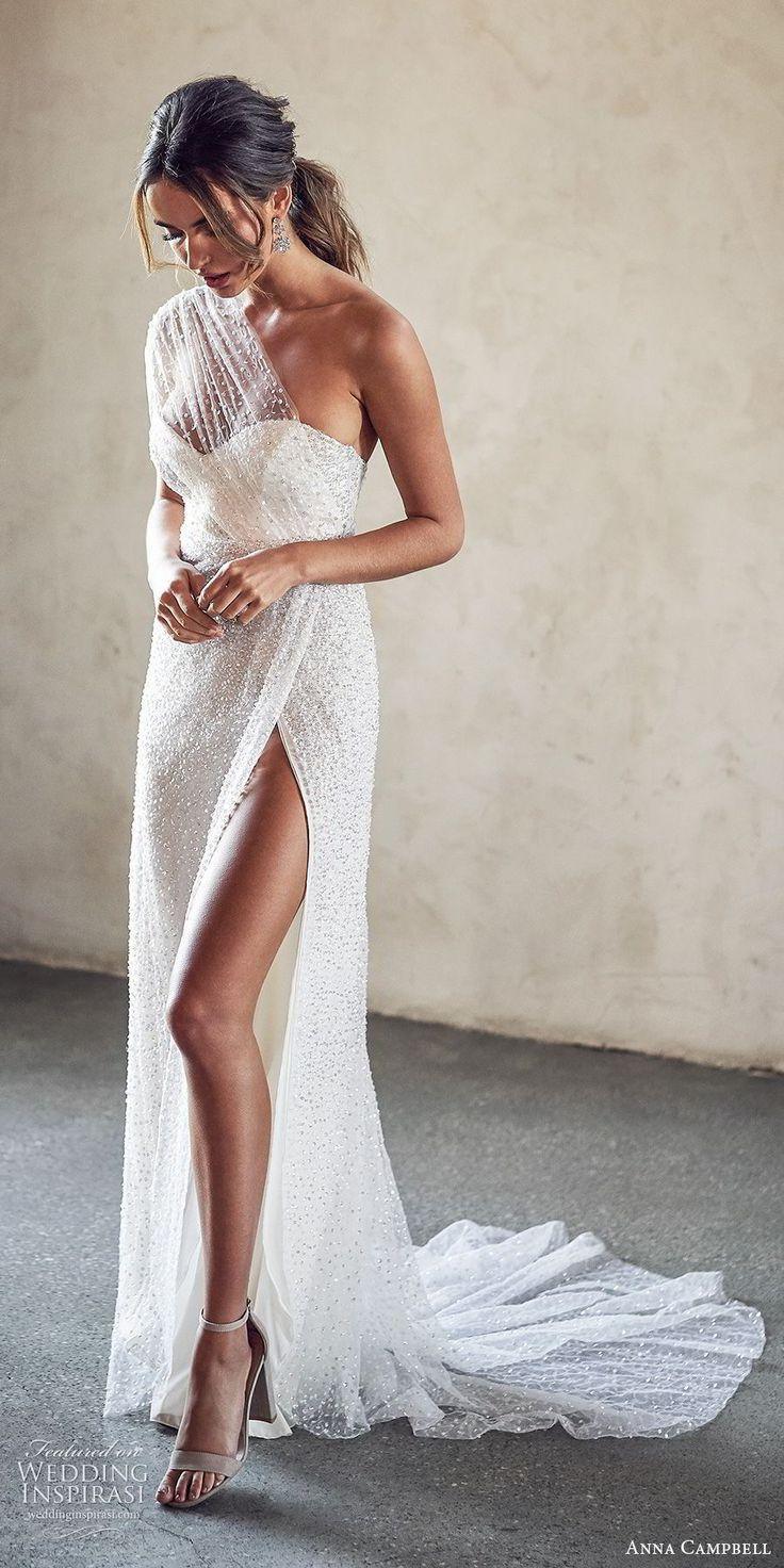Weddinginspirasi.com mettant en vedette – anna campbell 2020 illusion de mariée une épaule …