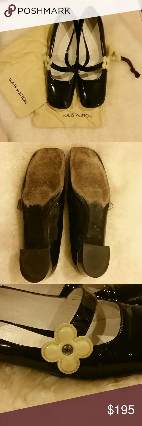 🎉PRICE DROP!!🎉 Louis Vuitton Mary Janes Authentic Louis Vuitton Mary Janes.  Worn and used but still awesome! Offers considered. Louis Vuitton Shoes Flats & Loafers