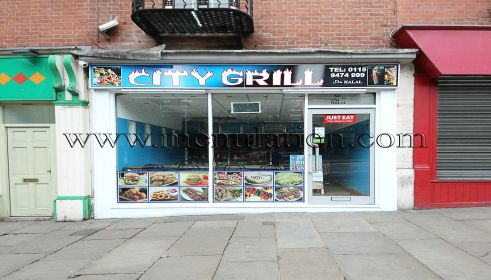 City Grill on Mansfield Road in Nottingham City Centre NG1 3FQ. Pizzas, garlic bread, calzones, burgers, kebabs, southern fried chicken. See City Grill's online menu, phone number, opening hours, location, hygiene rating, comments.. http://www.menulation.com/city-grill-pizza-takeaway-nottingham-ng1.html #pizza #fastfood #kebab #takeaway #Nottingham