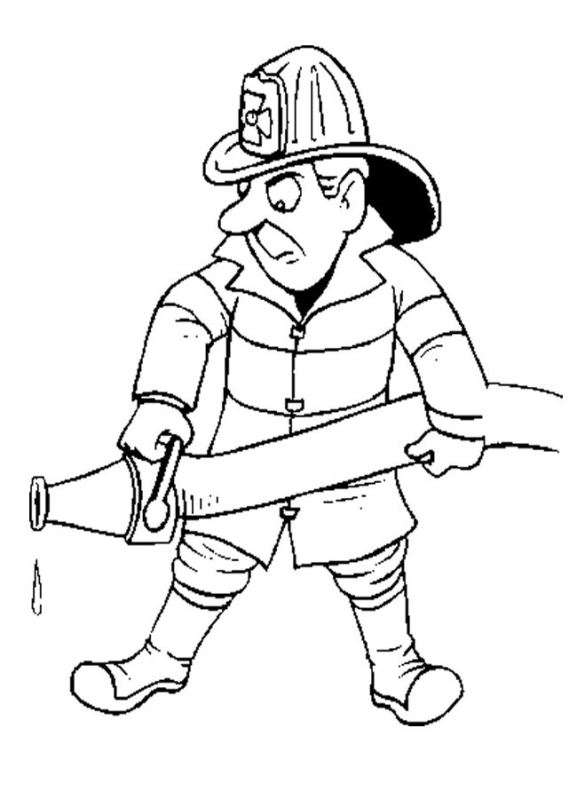 elf coloring pages fireman