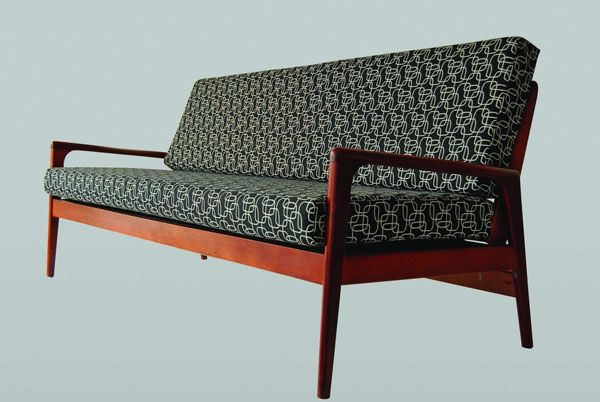 Teak couch/day bed designed by Fred Lowen for Fler of Melbourne