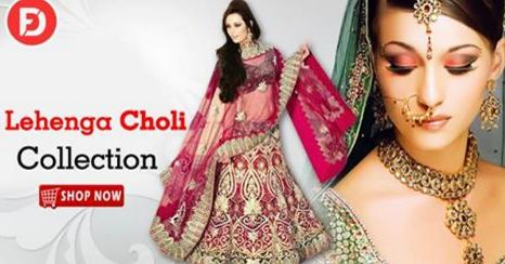 Gorgeous Designer Lehenga Choli ‪#‎partywear‬ ‪#‎ethnicwear‬ on heavy discount upto 50% off. Buy: http://bit.ly/1pGVF5J
