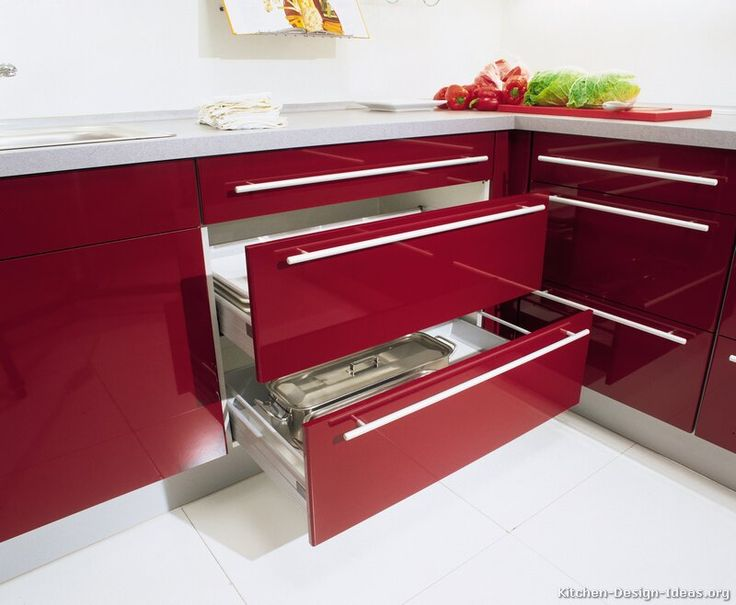 Red And White Kitchen Cabinets Stunning 165 Best Red Kitchens Images On Pinterest  Kitchen Ideas . Review