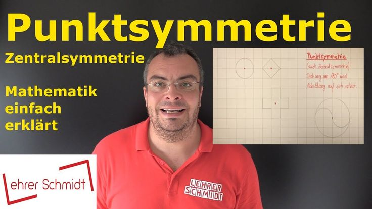 Punktsymmetrie, Geometrie, Mathematik, einfach erklärt, Lehrerschmidt