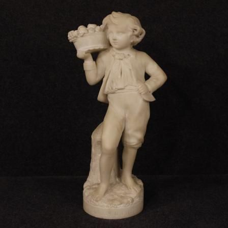 1100€ French sculpture in alabaster depiction of autumn.  Visit our website www.parino.it #antiques #antiquariato #art #antiquities #antiquario #sculpture #statue #decorative #interiordesign #homedecoration #antiqueshop #antiquestore #alabaster #child #bust #autumn