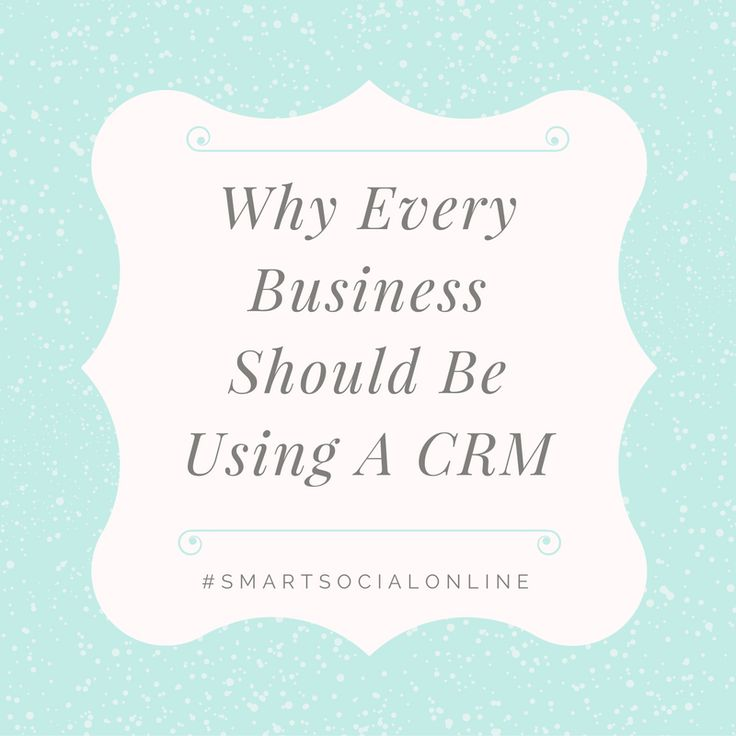 Why you should be using a CRM- Insightly  Follow me on Facebook and Instagram  Smart Social Online