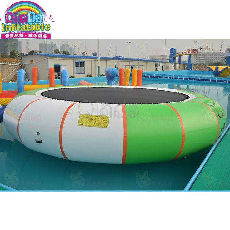 Factory direct sale water jumping 4m diameter air bouncer inflatable trampoline for sale