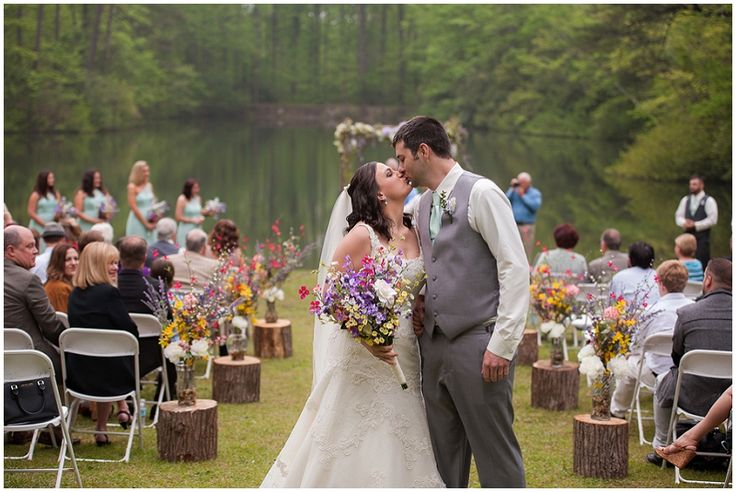 recessional // Photography: Southern Jewel Photography • Rentals: ABC Party Rentals • Venue: Paris Mountain State Park