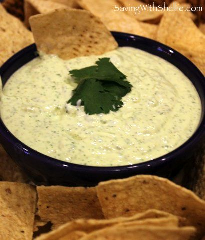Creamy Jalepeno Ranch Dip (•Philadelphia Cooking Creme (10oz)  •Cream Cheese (8oz)  •Sour Cream (16oz)  •2 Packets of Ranch Dip Mix  •Can of Diced Jalapenos  •1 Bunch Cilantro)