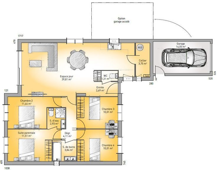 17 best images about plan maison on Pinterest Dressing, Garages
