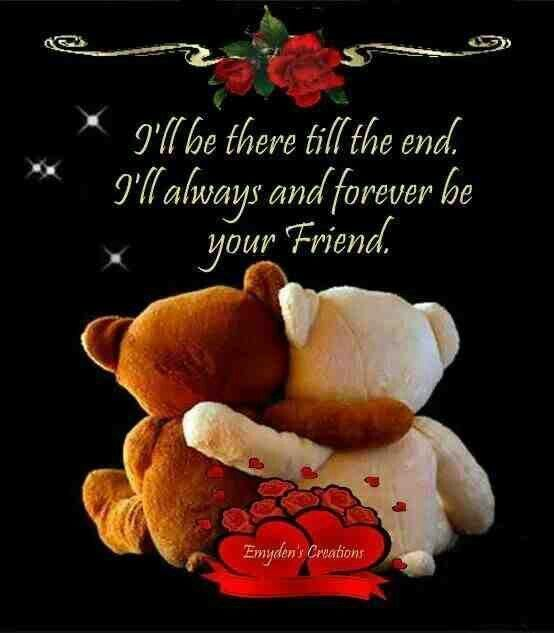I'll be there till the end...I'll always and forever be your friend.. friendship quote friend ...
