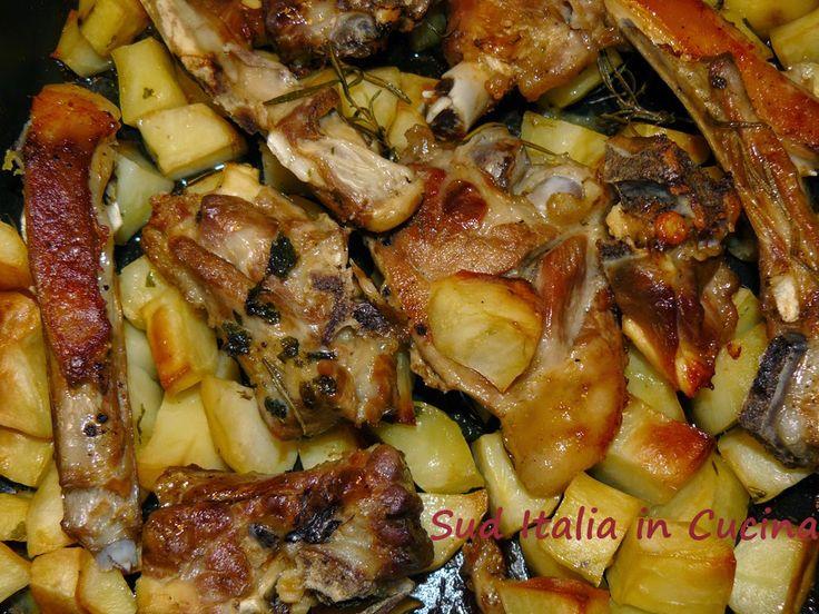 Sud Italia in Cucina: Tiedd d'Agnidd o furn cu l Patan - Tiella di Agnello al Forno con Patate